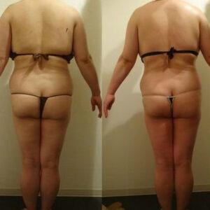 体重-3.5kg体脂肪-2%ウエスト-7.8cm
