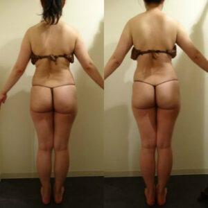 ウエスト-3.5cm 下腹部-8cm 太もも-1.7cmヒップ-0.7cm