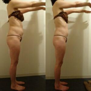 体重-1.6kg 体脂肪-3% ウエスト-2cm下腹部-3.5cm